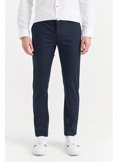 Avva Erkek  Yandan Cepli Armürlü Slim Pantolon A01S3071 Lacivert